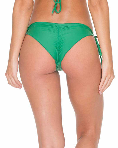 PALMAS EL CARNAVAL SEAMLESS RUCHED BRAZILIAN TIE SIDE BOTTOM LULI FAMA L54302P-426