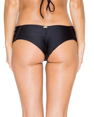 BLACK EL CARNAVAL SCRUNCH BRAZILIAN RUCHED BACK BOTTOM LULI FAMA L543346-001