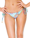 CAYO HUESO SO CLOSE CRYSTAL SEAMLESS RUCHED BRAZILIAN TIE SIDE BOTTOM LULI FAMA L54402P-111