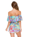 CAYO HUESO SO CLOSE FIESTA RUFFLE DRESS LULI FAMA L544A15-111