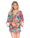 VIVA CUBA CABANA V-NECK DRESS LULI FAMA L548976-111