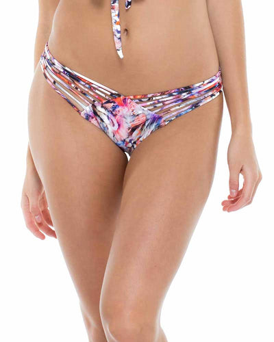 CIENFUEGOS STRAPPY BRAZILIAN RUCHED BACK BOTTOM LULI FAMA L55220-111