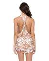 AMOR TABACO Y RON T-BACK MINI DRESS LULI FAMA L554979-450