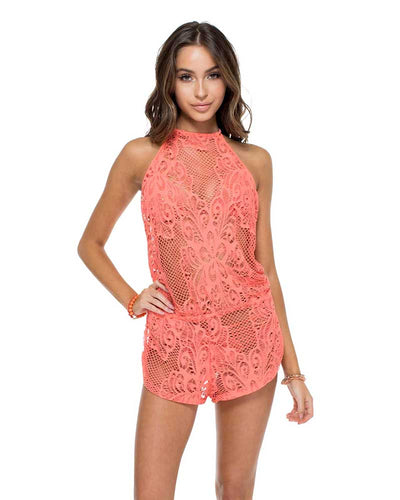 GUAGUANCO BACKLESS ROMPER LULI FAMA L555866-444