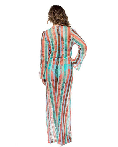 LA GLORIA CUBANA LONG SLEEVE MAXI DRESS LULI FAMA L559A78-111