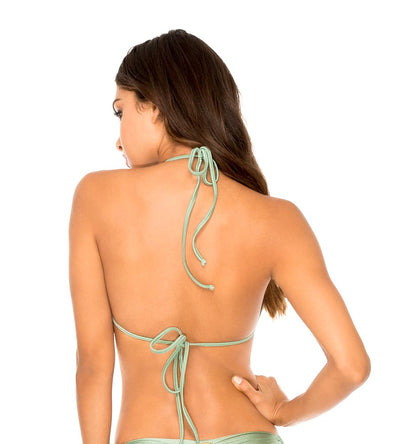 SPANISH MOSS MAMBO LACED UP MOLDED PUSH UP BANDEAU TOP LULI FAMA L561435-491