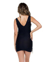 BLACK MAMBO LACE UP GROMMET BODYCON DRESS LULI FAMA L561A55-001