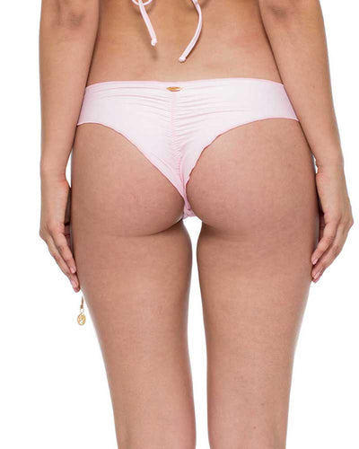 NINA LA CORREDERA INTERLACED RUCHED BRAZILIAN TIE SIDE BOTTOM LULI FAMA L565A37-438