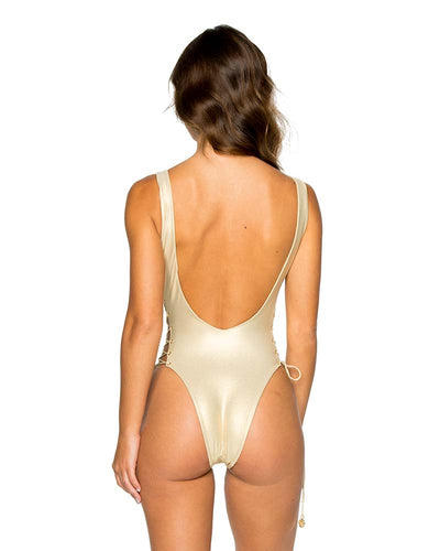 GOLD RUSH LA CORREDERA INTERLACED ONE PIECE LULI FAMA L565A38-316