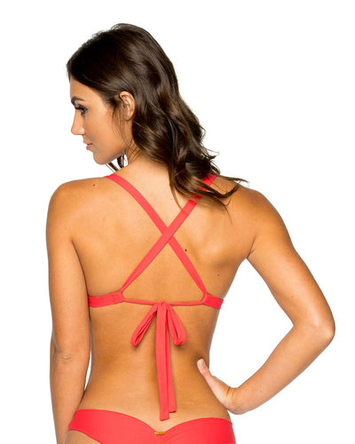 GIRL ON FIRE LA CABANA CUTOUT TOP LULI FAMA L576N05-417