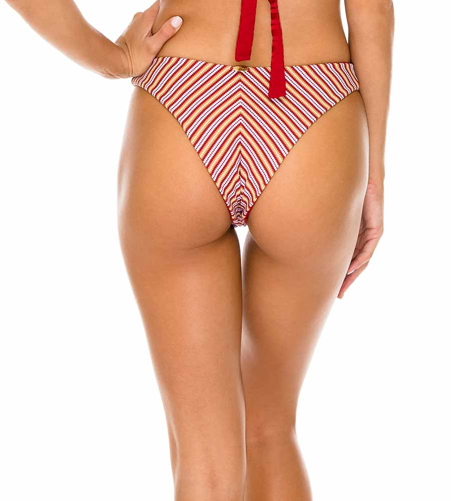TORERO TORRE DE ORO REVERSIBLE HIGH LEG BRAZILIAN BOTTOM BY LULI FAMA