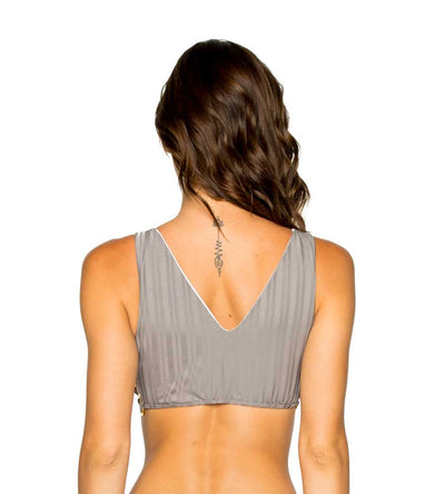 GREY TURI TURAI RING SIDE CROP TANK TOP LULI FAMA L581N33-023