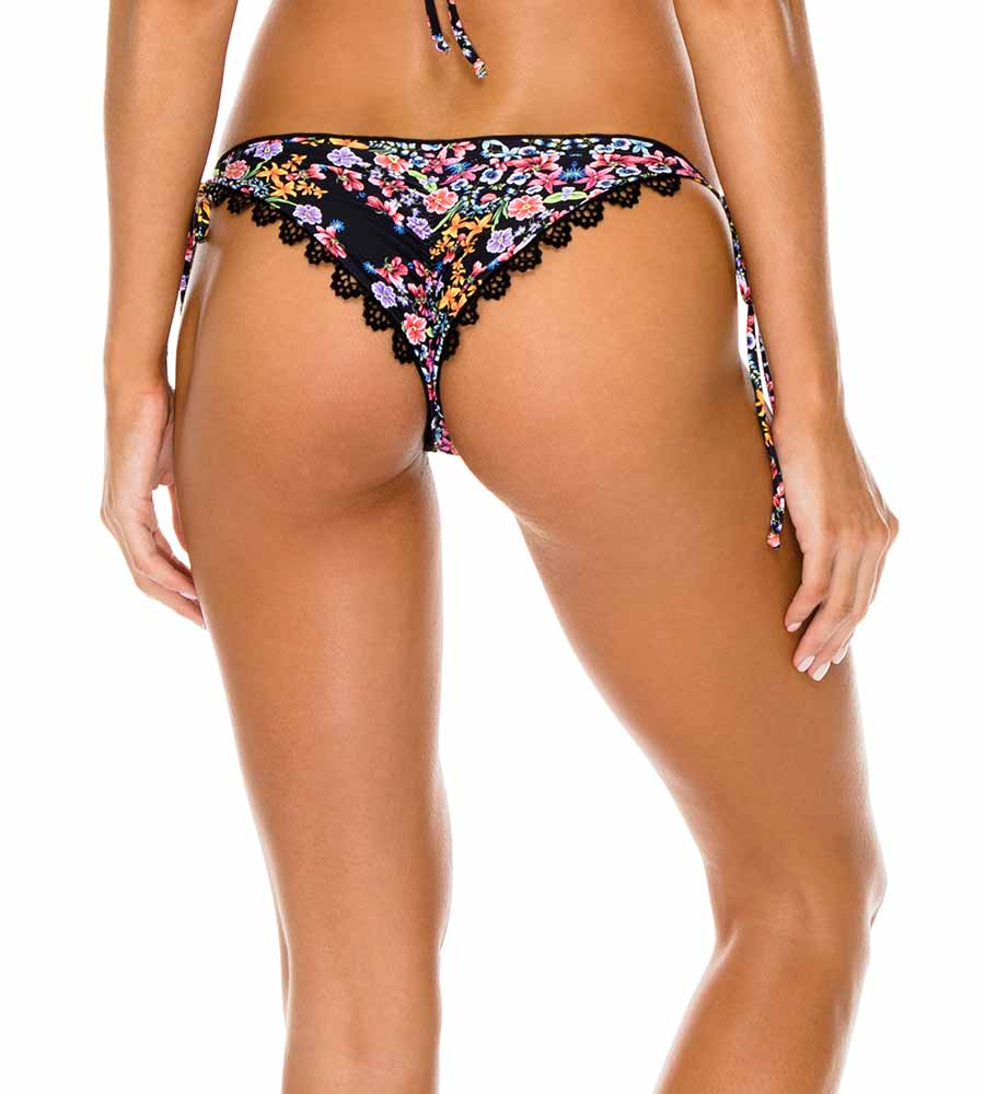 NOCHES DE SEVILLA REVERSIBLE RUCHED BRAZILIAN TIE SIDE BOTTOM BY LULI FAMA