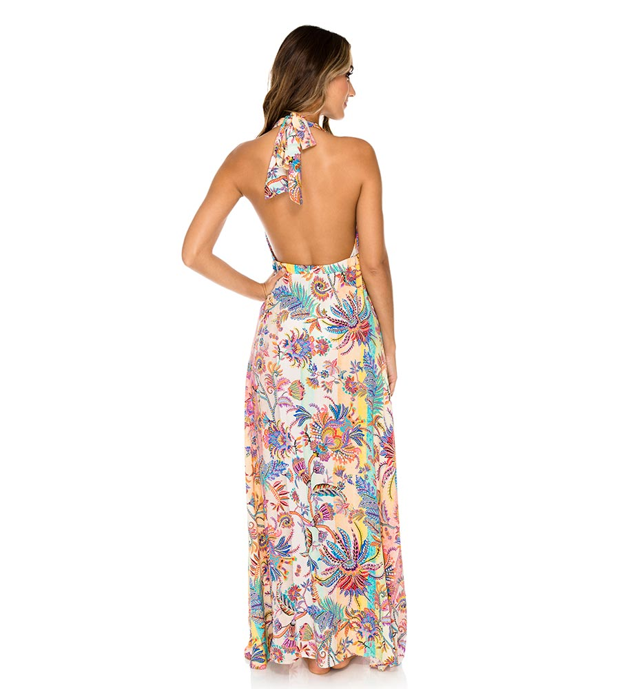 ALCAZAR DEEP PLUNGE LONG DRESS BY LULI FAMA