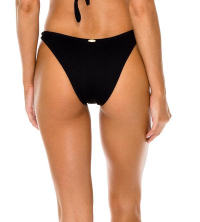 BLACK TRIANA HIGH LEG BRAZILIAN BOTTOM LULI FAMA L596N49-001