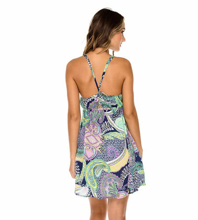 MARINO DYNASTY V BACK SHORT DRESS LULI FAMA L600N90-446