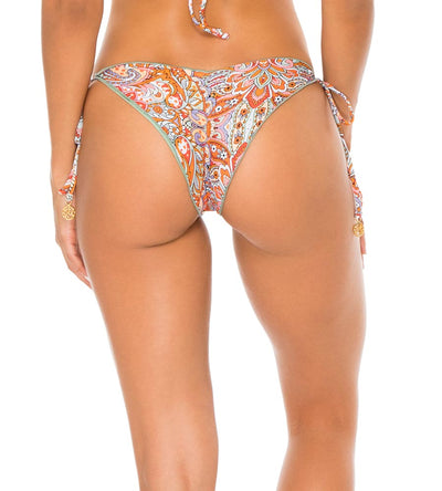 ANDALUZ REVERSIBLE RUCHED BRAZILIAN TIE SIDE BOTTOM LULI FAMA L60302P-111
