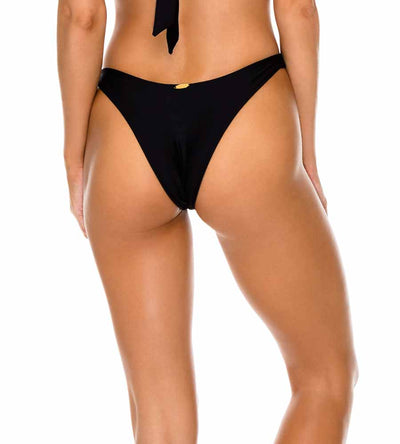 BLACK BULERIA HIGH LEG BRAZILIAN BOTTOM LULI FAMA L611N50-001