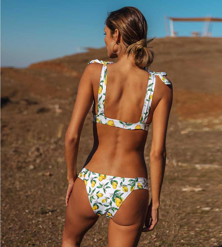 LEMONTASTIC KOUTUBIA BIKINI TOP BY KITESS SWIMWEAR