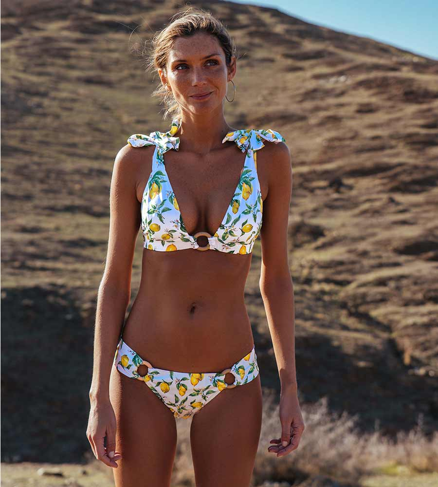 LEMONTASTIC KOUTUBIA BIKINI BOTTOM BY KITESS SWIMWEAR