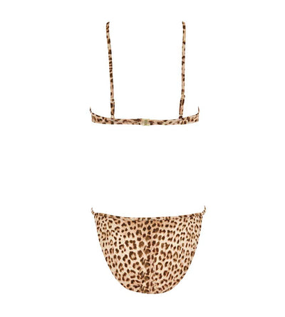 LEOPARD BARDOT ONE PIECE MONICA HANSEN MHB-82LP