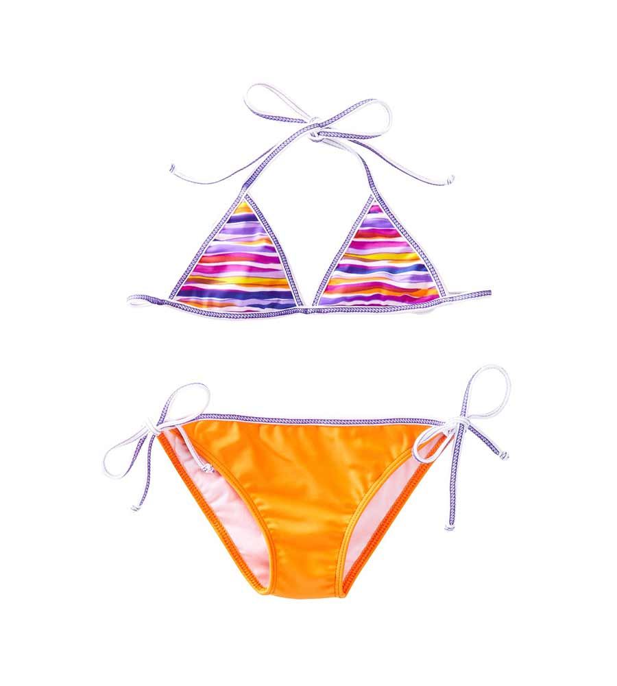 LILAC & STITCH TRIANGLE BIKINI BY AZUL
