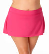 LIVE IN COLOR BERRY PLUS CLASSIC ROCK SWIM SKIRT ANNE COLE 21PB40001-BERY