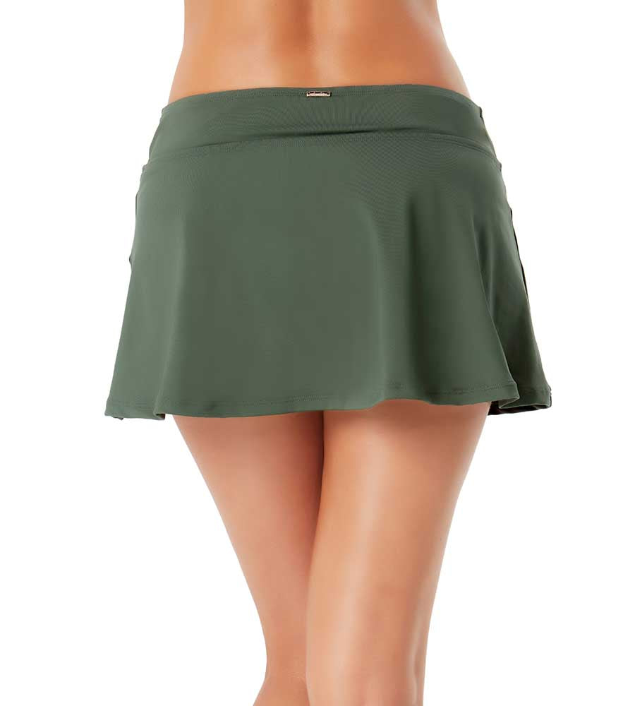 LIVE IN COLOR ISLAND GREEN CLASSIC ROCK SWIM SKIRT BY ANNE COLE