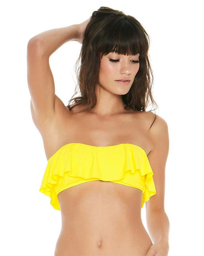 SENSUAL SOLIDS CANARY YELLOW LYNN TUBE TOP LSPACE LSLYT18-CAY