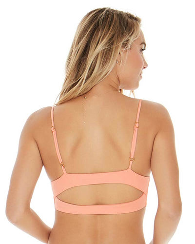 SENSUAL SOLIDS TROPICAL PEACH OLIVIA TOP LSPACE LSOLT17-TRP