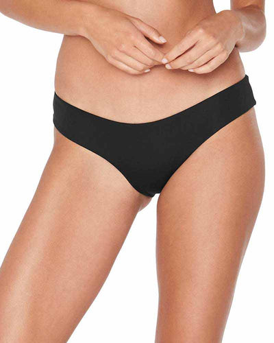 SENSUAL SOLIDS BLACK PIXIE BOTTOM LSPACE LSPIB17-BLK