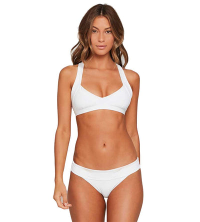WHITE SENSUAL SOLIDS SHELBY TOP LSPACE LSSBT19-WHT