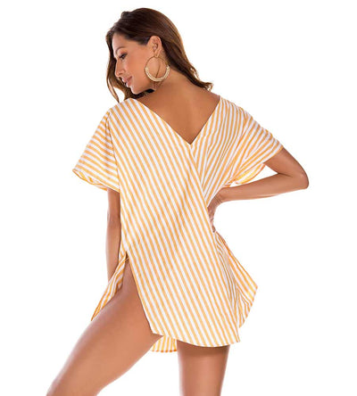 LUCCA STRIPE COVER UP MILONGA LUCC02