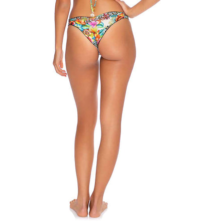 LULI'S JUNGLE STRAPPY RUCHED BRAZILIAN BOTTOM LULI FAMA L65720-111