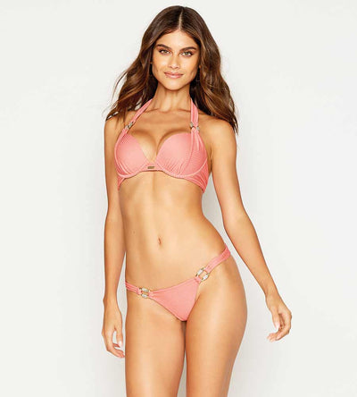 MADAGASCAR GLAM ROSE SKIMPY BOTTOM BEACH BUNNY B12111B2-ROSE