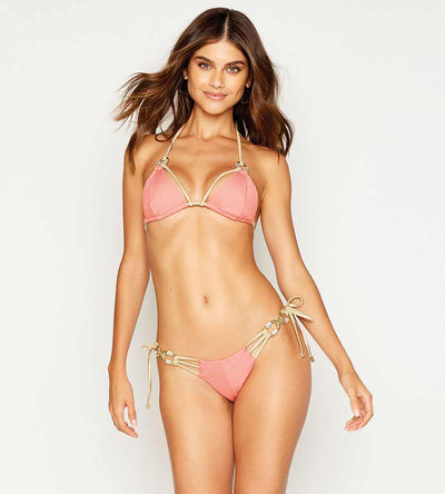 MADAGASCAR GLAM ROSE TRI TOP BEACH BUNNY B12111T1-ROSE