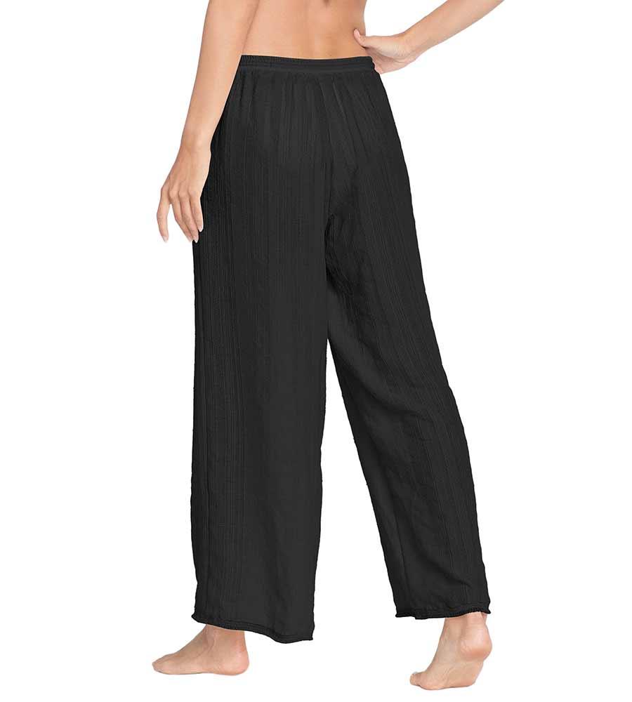 MICHELLE BLACK FRINGE PANTS BY ROBIN PICCONE