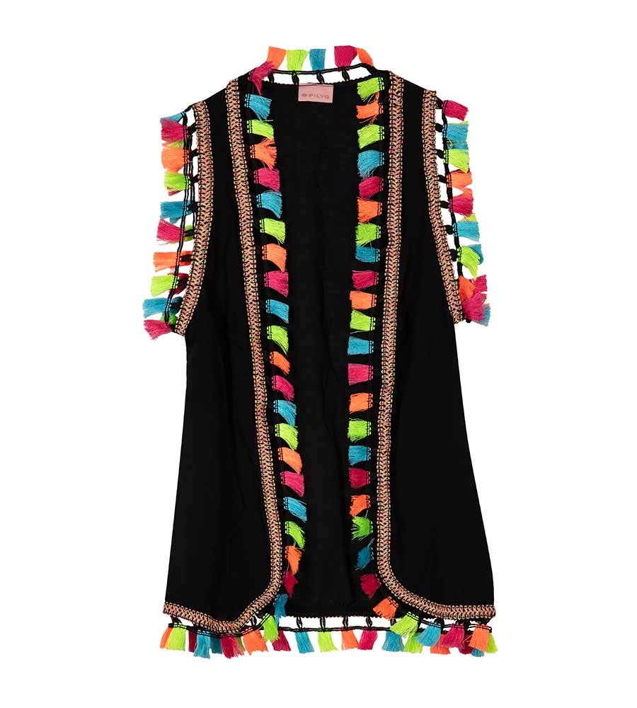 a7ef592a3 MIDNIGHT TASSEL KIDS VEST BY PILYQ - Kayokoko Swimwear USA