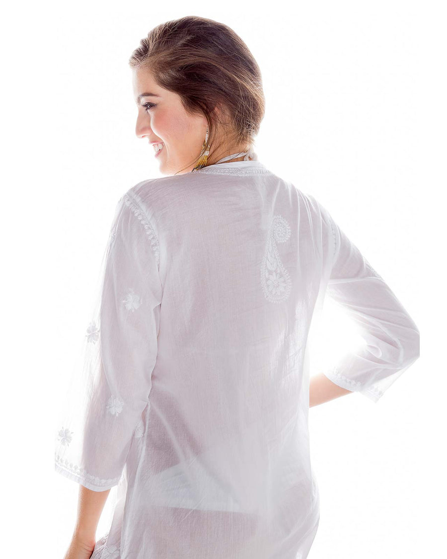 CROCHET EMBROIDERED TUNIC BY PRAIAVE