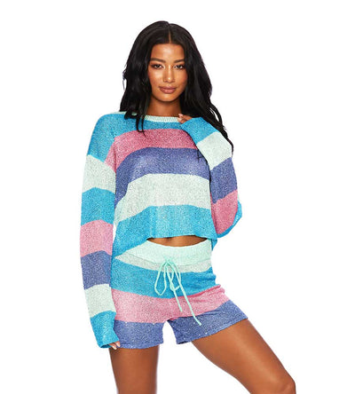 MOD STRIPE BEACH SWEATER BEACH RIOT BR03469S1-MODS