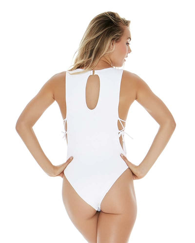 SLICE OF PARADISE LAURA ONE PIECE LSPACE MTLAMB18-WHT