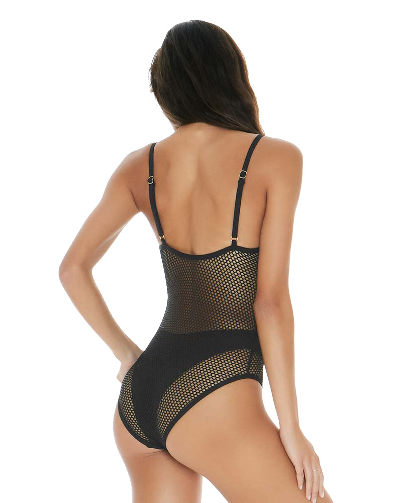 MESH MADNESS BLACK MESH MADNESS ONE PIECE BY LSPACE