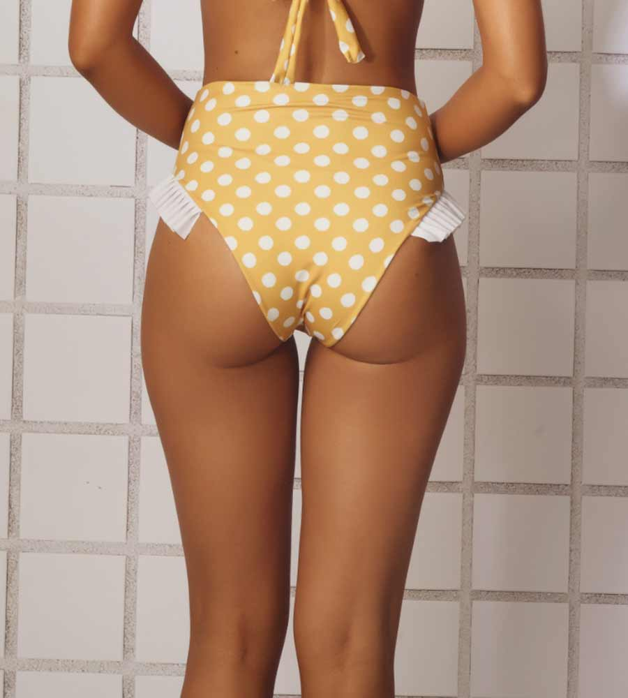 MUSTARD VINTAGE BATHROOM BIKINI BOTTOM ANCORA F175BHW