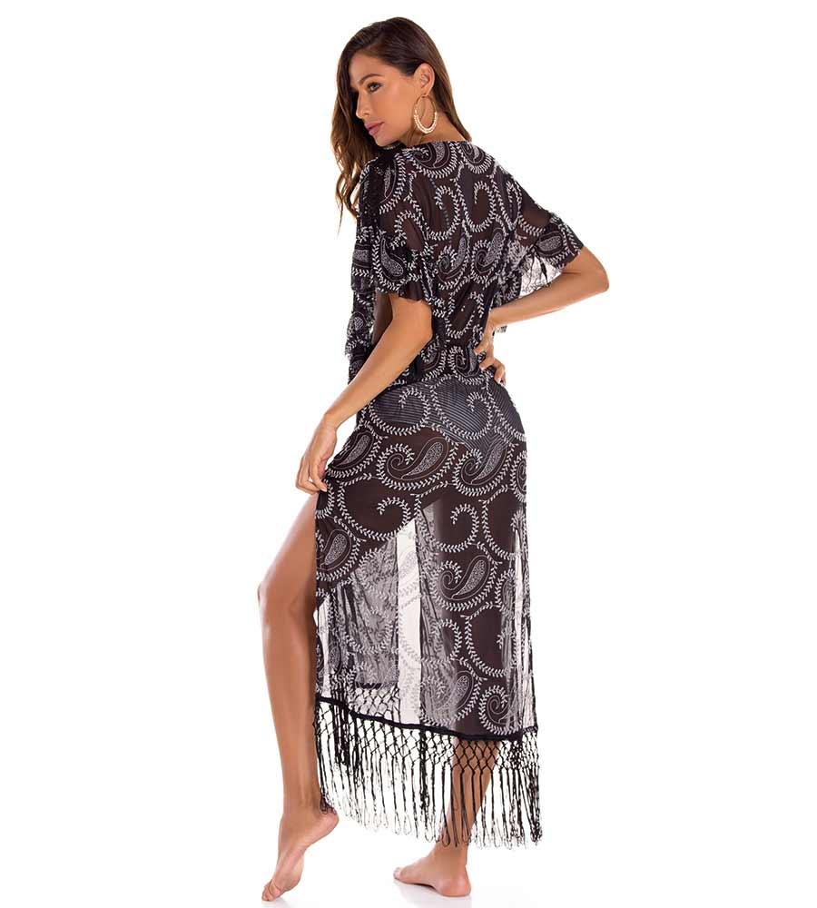 NAPOLES FRINGE COVER UP MILONGA NAPC01