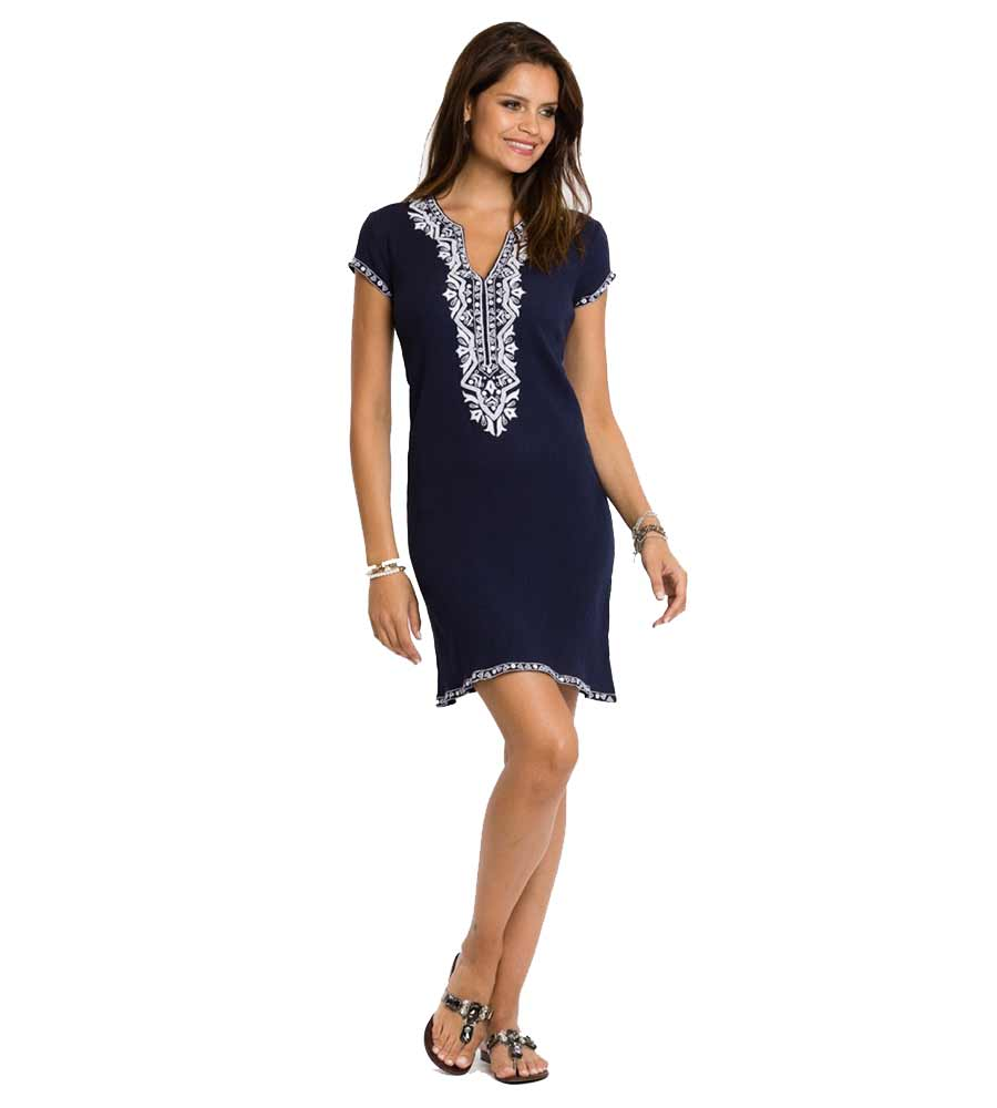 NAVY ALEX CAP SLEEVE DRESS SULU ALEX4