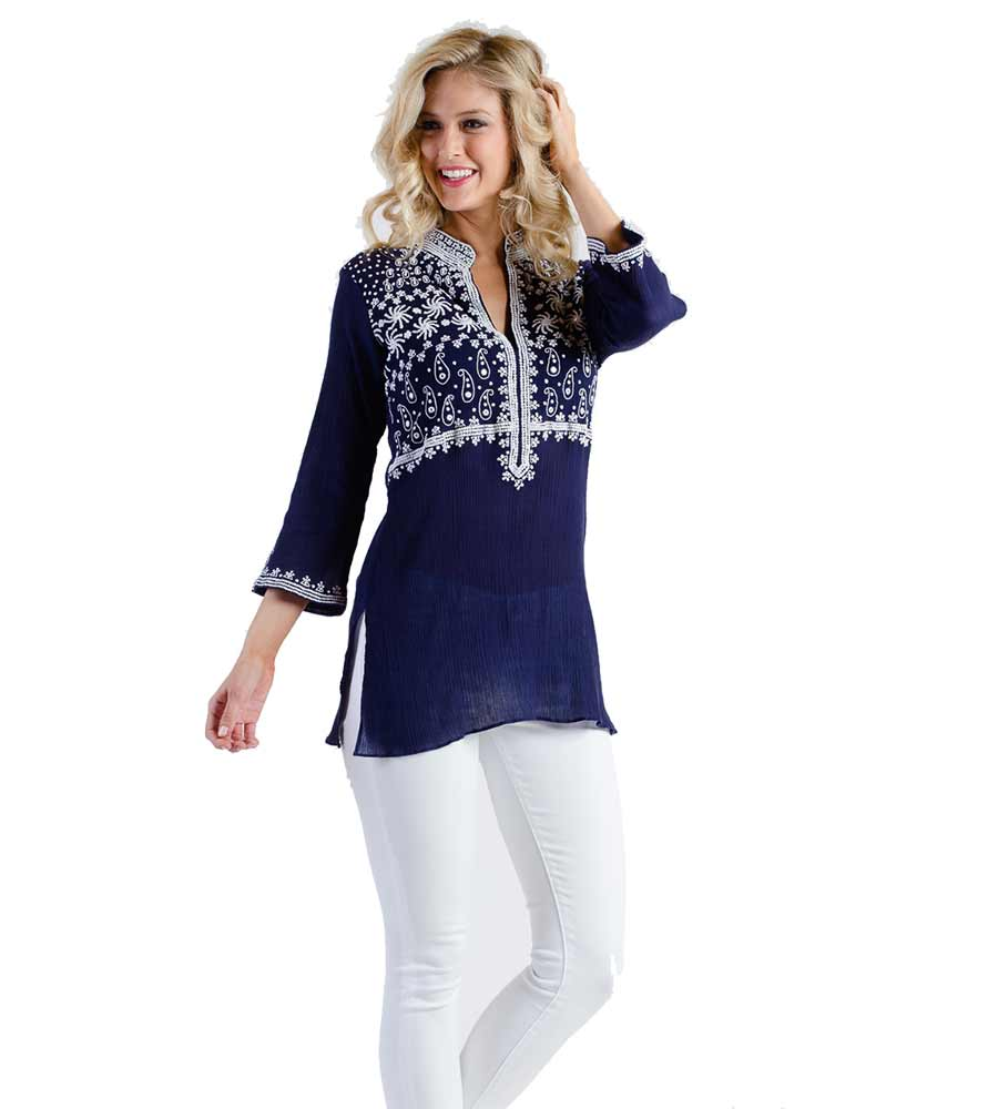 NAVY BROOKLYN TUNIC SULU BROOKLYN1