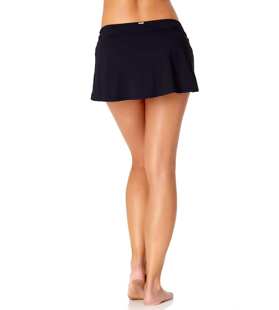 NAVY CLASSIC SWIM SKIRT ANNE COLE 20MB40001-NAVY