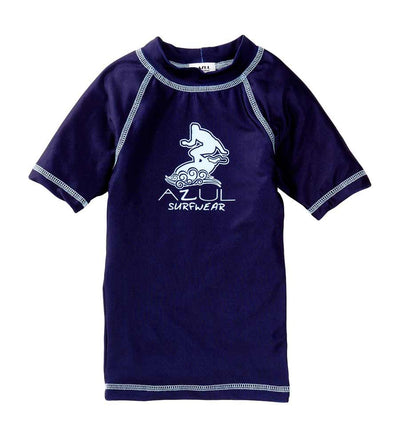 NAVY SHORT SLEEVE SURFER RASHGUARD AZUL 7006-N
