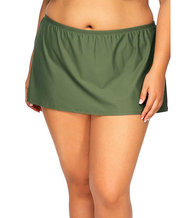 OLIVE ISLAND TIME SWIM SKIRT SUNSETS ESCAPE 336BOLIVE