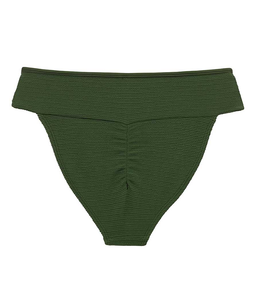 OLIVE MICRO SCRUNCH TAMARINDO BIKINI BOTTOM BY MONTCE